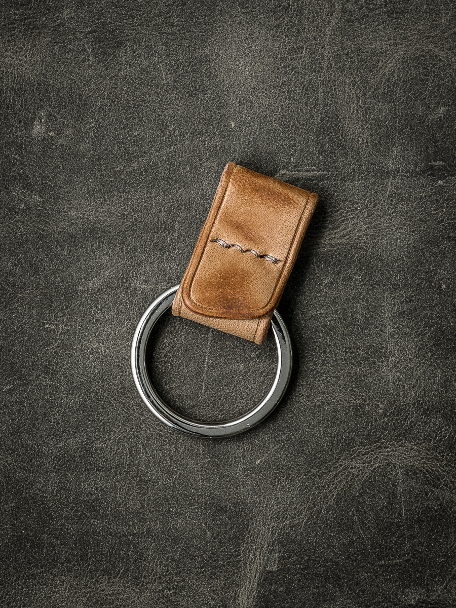 """Guardian"" Natural Vintage Handmade Leather Key Fob"