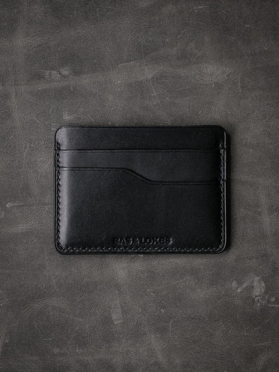 """""""Ford v2"""" Smooth Black Slim Leather Wallet"""