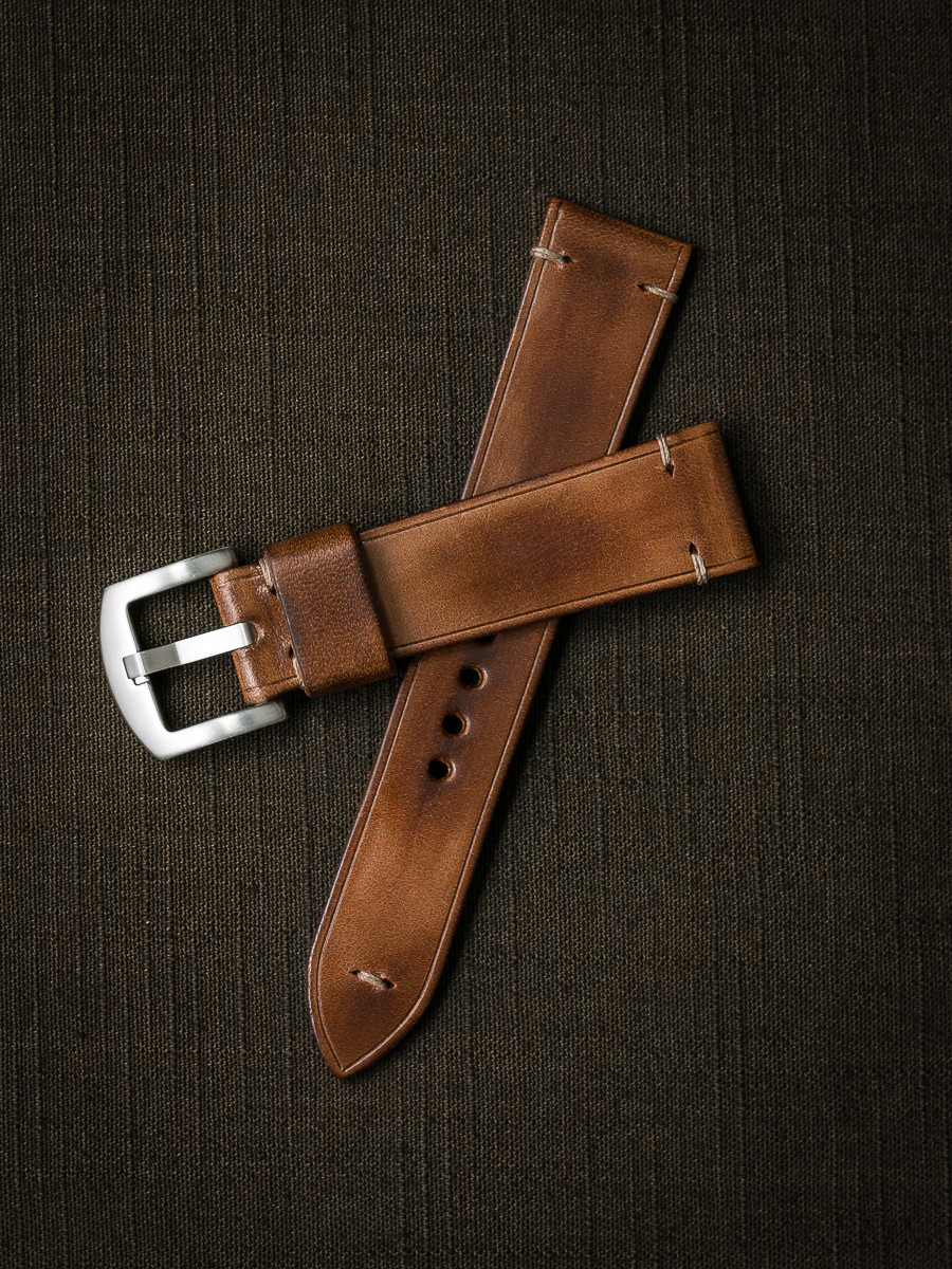 """""""Oxford"""" Vintage Bourbon Handcrafted Leather Watch Strap"""