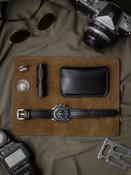 """Kingsman"" Black Padded Leather Watch Strap"