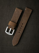 """Cairo"" Medium Brown Suede Watch Strap"