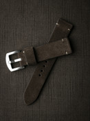 Brown suede handcrafted watch strap