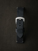 Blue handcrafted suede watch strap