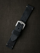 """Lannister"" Dark Navy Blue Suede Watch Strap"