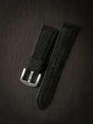 Black suede watch strap