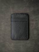 Maddox black leather slim wallet