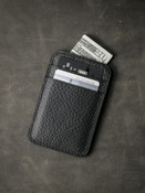 Maddox black leather slim wallet