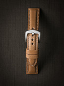 """Beaumont"" Natural Padded Leather Watch Strap"
