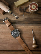 """Theo"" Natural Leather NATO Watch Strap"
