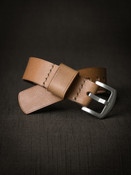 """""""Theo"""" Natural Leather NATO Watch Strap"""