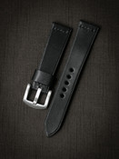 Bas and Lokes black handcrafted leather watch strap