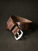 """""""McQueen"""" Russet Vintage Tan Leather NATO Watch Strap"""