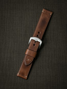 Bas and Lokes Russet vintage tan handcrafted leather watch strap