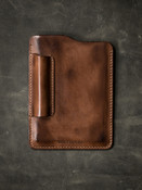 Russet vintage leather notebook sleeve
