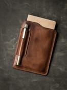 Russet vintage leather notebook sleeve