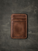Maddox russet vintage tan leather slim wallet