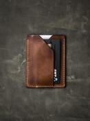 Rex russet vintage tan leather slim wallet