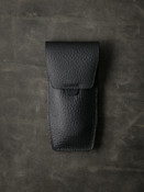 """""""Kingsford"""" Pebbled Black Leather Watch Pouch"""