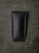 Bas and Lokes black handcrafted leather watch pouch.