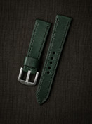 """Broward"" Racing Green Leather Watch Strap"