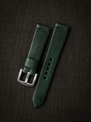 """""""Homer"""" Racing Green Leather Watch Strap"""