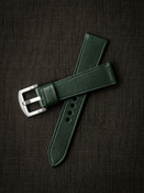 """""""Quinn"""" Racing Green Leather Watch Strap"""