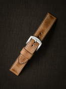 """""""Axel""""  Natural Vintage  Leather Watch Strap"""