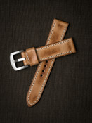 Natural Vintage Handcrafted Leather Watch Strap Bas and Lokes
