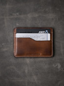 """Ford v2"" Vintage Bourbon Tan Slim Leather Wallet"