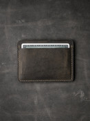 """Ford"" Brown handcrafted leather slim wallet"