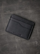 """Ford v2"" Textured Black Slim Leather Wallet"