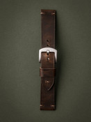 Bas and Lokes vintage brown handcrafted leather watch strap