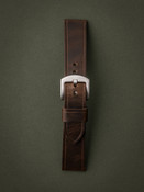 """Wilcox"" Vintage Aviator Brown Leather Watch Strap"