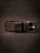 """Edison"" Vintage Aviator Brown Leather NATO Watch Strap"