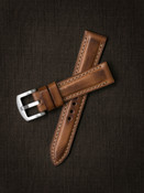 Bas and Lokes Bourbon vintage handcrafted leather watch strap