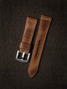 """Luca"" Vintage Bourbon Handcrafted Leather Watch Strap"