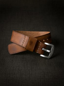 """Winchester"" Vintage Bourbon Leather NATO Watch Strap"