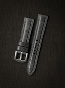 Bas and Lokes grey handcrafted leather watch strap