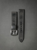 """Zeus"" Vintage Ghost Grey Handcrafted Leather Watch Strap"