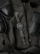 """""""Bronx"""" Vintage Ghost Grey Handcrafted Leather Watch Strap"""