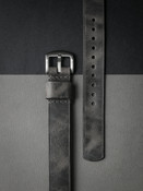 """Berliner"" Vintage Ghost Grey Leather NATO Watch Strap""Berliner"" Vintage Ghost Grey Leather NATO Watch Strap"