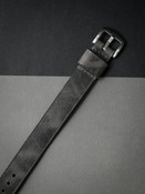 """Berliner"" Vintage Ghost Grey Leather NATO Watch Strap"