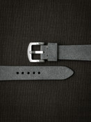 Light grey suede handcrafted watch strap