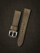 """Camden"" Light Oil Tan Suede Watch Strap"