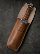 Bas and Lokes vintage bourbon handcrafted leather watch pouch
