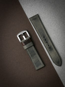 """Duke"" Vintage Grey Green Leather Watch Strap"
