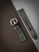 """Duke"" Vintage Grey Green Leather Watch Strap"