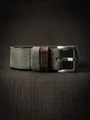 """""""Benjamin"""" Vintage Pale Grey Green Leather NATO Strap"""