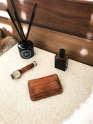 """Grant"" Vintage Bourbon Leather Wallet"