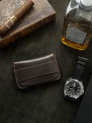 """""""Grant"""" Classic Brown Handcrafted Leather Flap Wallet"""